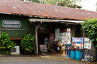 Local information center at the Hazegawa General Store in Hana on Maui in Hawaii