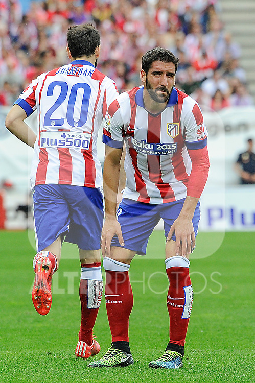 Atletico de Madrid´s Raul Garcia during 2014-15 La Liga match between Atletico de Madrid and Athletic Club at Vicente Calderon stadium in Madrid, Spain. May 02, 2015. (ALTERPHOTOS/Luis Fernandez)