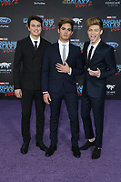19 April 2017 - Hollywood, California - Forever in Your Mind, Emery Kelly, Ricky Garcia, Liam Attridge. Premiere Of Disney And Marvel's &quot;Guardians Of The Galaxy Vol. 2&quot; held at Dolby Theatre. <br /> CAP/ADM/PMA<br /> &copy;PMA/ADM/Capital Pictures