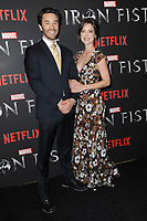 www.acepixs.com<br /> March 15, 2017  New York City<br /> <br /> Tom Pelphrey and Jessica Stroup attending Marvel's 'Iron Fist' New York screening at AMC Empire 25 on March 15, 2017 in New York City.<br /> <br /> Credit: Kristin Callahan/ACE Pictures<br /> <br /> <br /> Tel: 646 769 0430<br /> Email: info@acepixs.com
