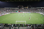 1 March 2006: The start of the second half of the game. The National Team of Mexico defeated the National Team of Ghana 1-0 at Pizza Hut Park in Frisco, Texas in an International Friendly soccer match.