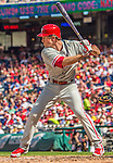 15 September 2013: Philadelphia Phillies second baseman Chase Utley in action against the Washington Nationals at Nationals Park in Washington, DC. The Nationals took the rubber match of their 3-game series 11-2 to keep Washington's wildcard hopes alive. Mandatory Credit: Ed Wolfstein Photo *** RAW (NEF) Image File Available ***