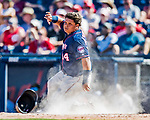 2 March 2019: Minnesota Twins infielder Willians Astudillo slides home safely to score a run during a Spring Training game against the Washington Nationals at the Ballpark of the Palm Beaches in West Palm Beach, Florida. The Twins fell to the Nationals 10-6 in Grapefruit League play. Mandatory Credit: Ed Wolfstein Photo *** RAW (NEF) Image File Available ***