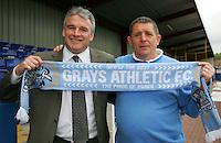 Frank Gray (New Manager) and Mick Woodward (Chairman) at Grays Athletic Football Club - 25/05/06 - MANDATORY CREDIT: Gavin Ellis
