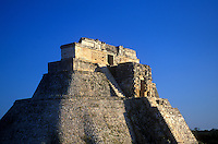 The Magician's Pyramid at Uxmal. Yucatan Peninsula. Mexico.