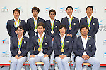 Japan team group (JPN), <br /> AUGUST 17, 2016 - Swimming : Japanese Swimming medalist attend a media conference at Ajinomoto National Training Center, Tokyo, Japan. Japanese Swimming players won 2 gold medals, 2 silver medals and 3 bronze medals in the Rio 2016 Olympic Games. (Photo by AFLO SPORT)