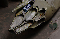 Ho Chi Minh city<br /> , Vietnam - 2007 File Photo -<br /> <br /> US Army Cluster bombs on display at war museum, <br /> <br /> <br /> <br /> photo : James Wong-  Images Distribution