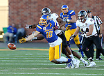 BROOKINGS, SD - NOVEMBER 5:  Alex Wilde #10 from South Dakota State reaches for the ball with Darius Joseph #2 form Missouri State in the first half Saturday afternoon at Dana J. Dykhouse Stadium in Brookings. (Photo by Dave Eggen/Inertia)