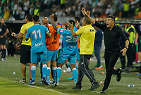 MEDELLIN - COLOMBIA, 01-02-2020: Juan Cruz Real técnico del Jaguares gesticula durante partido por la fecha 3 de la Liga BetPlay DIMAYOR I 2020 entre Atlético Nacional y Jaguares de Córdoba jugado en el estadio Atanasio Girardot de la ciudad de Medellín. / Juan Cruz Real coach of Jaguares gestures during match for the date 3 as part of BetPlay DIMAYOR League I 2020 between Atletico Nacional and Jaguares de Cordoba played at Atanasio Girardot stadium in Medellín city. Photo: VizzorImage / Donaldo Zuluaga / Cont