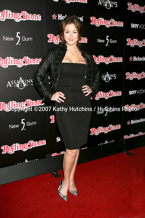 Kat Foster.Rolling Stone Hot 2007 Party.Opera & Crimson.Los Angeles,   CA.October 4, 2007.©2007 Kathy Hutchins / Hutchins Photo...               .