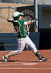 March 7, 2012:   Sacramento State Hornets Emily McCormick bats against the Nevada Wolf Pack during their NCAA softball game played at Christina M. Hixson Softball Park on Wednesday in Reno, Nevada.