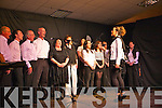 Members from the Athea Choir preform on stage for a special variety show last Sunday evening in Athea.