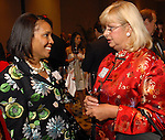 Yava Scott and Virginia Jarvis at the City of Houston's Birthday Bash at the George R. Brown Convention Center Tuesday Aug. 19,2008.(Dave Rossman/For the Chronicle)