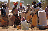Women selling Rice
