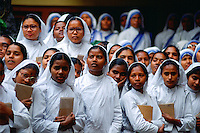 Novice nuns at Mother Teresa's Mission in Calcutta, India