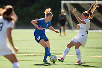 Seattle, WA - Sunday, May 1, 2016: Seattle Reign FC forward Beverly Yanez (17) maintains possession during the first half of a National Women's Soccer League (NWSL) match at Memorial Stadium.