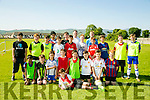 Under 14's  enjoying the St Brendan's Park FC Summer camp on Tuesday