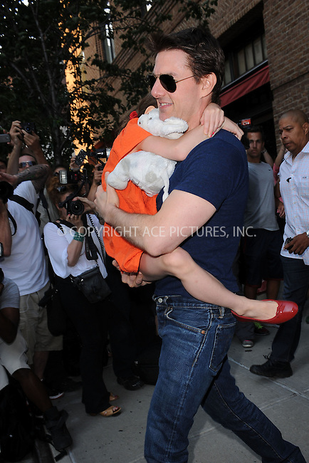 WWW.ACEPIXS.COM . . . . . .July 17, 2012...New York City....Tom Cruise and Suri visit Chelsea Piers on July 17, 2012 in New York City. ....Please byline: KRISTIN CALLAHAN - WWW.ACEPIXS.COM.. . . . . . ..Ace Pictures, Inc: ..tel: (212) 243 8787 or (646) 769 0430..e-mail: info@acepixs.com..web: http://www.acepixs.com .
