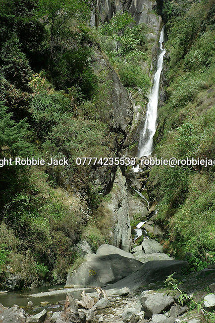 The Jogni Falls near Vashisht in the Kullu Valley Himachal Pradesh, India.