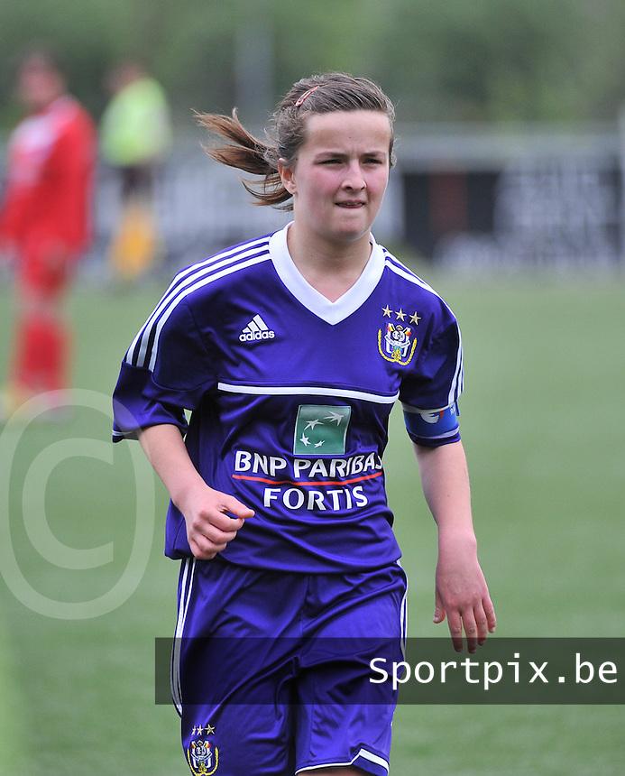 AA Gent Ladies U16 - RSC Anderlecht : Noa Galle.foto DAVID CATRY / Nikonpro.be