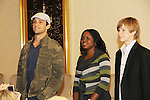 David Fumero, Shenell Edmonds, Austin Williams - Actors all on stage at The One Life To Live Lucheon at the Hemsley Hotel in New York City, New York on October 9, 2010. (Photo by Sue Coflin/Max Photos)