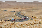 The peleton winds it's way through the desert during Stage 3 of the 101st edition of the Giro d'Italia 2018 running 229km flat stage from Be'er Sheva to Eilat is the last in Israel. 6th May 2018.<br /> Picture: LaPresse/Fabio Ferrari | Cyclefile<br /> <br /> <br /> All photos usage must carry mandatory copyright credit (&copy; Cyclefile | LaPresse/Fabio Ferrari)
