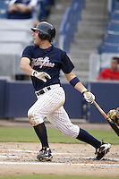 July 10, 2009:  Catcher Austin Romine of the Tampa Yankees during a game at George M. Steinbrenner Field in Tampa, FL.  Tampa is the Florida State League High-A affiliate of the New York Yankees.  Photo By Mike Janes/Four Seam Images
