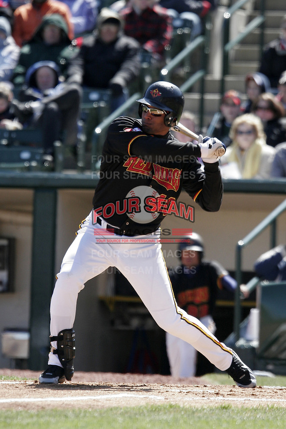 Rochester Red Wings Alex Romero during an International League game at Frontier Field on April 8, 2006 in Rochester, New York.  (Mike Janes/Four Seam Images)