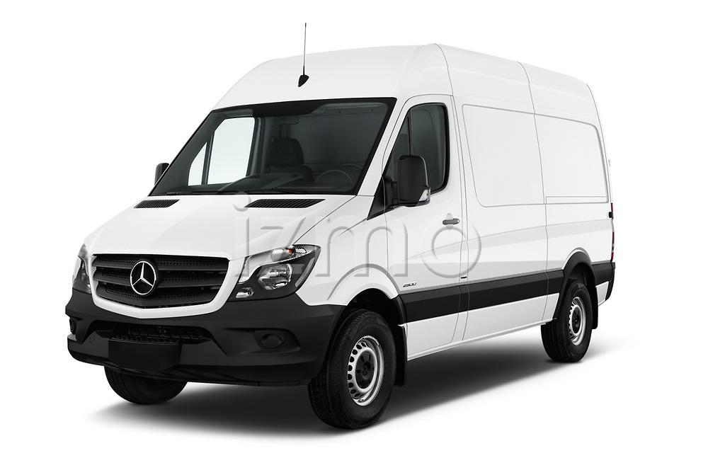 2017 Mercedes Benz Sprinter Base 4 Door Cargo Van angular front stock photos of front three quarter view
