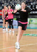 15.09.2012 Silver Ferns Irene Van Dyk in action at training at the Hisense Arena In Melbourne ahead of the first netball test match between the Silver Ferns and Australia. Mandatory Photo Credit ©Michael Bradley.