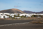 Whitewashed buildings in village of Uga, near Yaiza, Lanzarote, Canary Islands, Spain