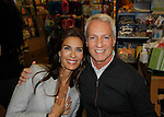 """Cast of Days Of Our Lives - Kristian Alfonso """"Hope Williams Brady"""" signs book """"Days Of Our Lives 50 Years"""" by Greg Meng (in photo) - author & co-executive producer on October 27, 2015 at Books & Greetings, Northvale, New Jersey. (Photo by Sue Coflin/Max Photos)"""