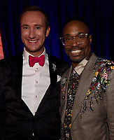BEVERLY HILLS - JANUARY 6: (L-R) Adam Porter-Smith and Billy Porter attend the 2019 Fox Nominee Party for the 76th Annual Golden Globe Awards at the Fox Terrace on the Roof Deck of the Beverly Hilton on January 6, 2019, in Beverly Hills, California. (Photo by Frank Micelotta/Fox/PictureGroup)
