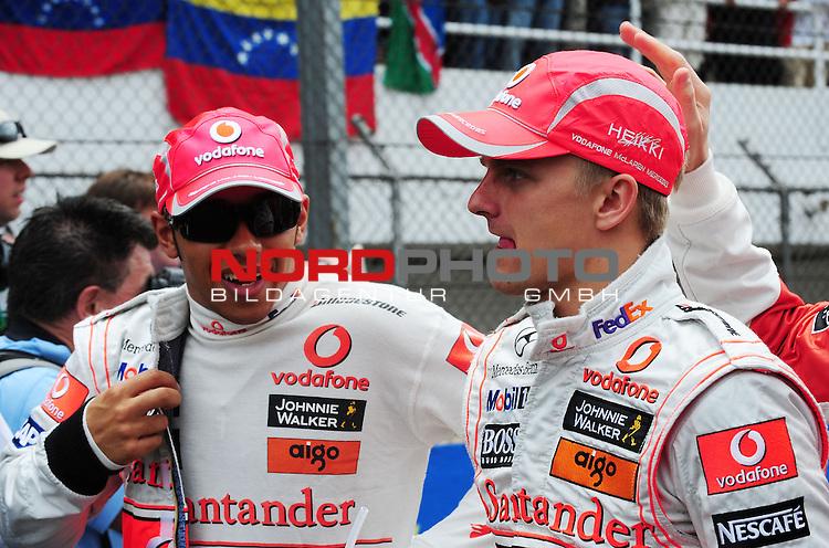 Lewis Hamilton (GBR), McLaren Mercedes - Heikki Kovalainen (FIN), McLaren Mercedes