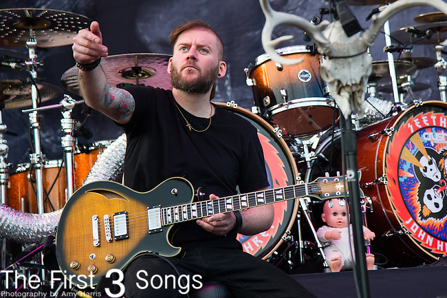 X of Seether performs during the 2014 Rock On The Range festival at Columbus Crew Stadium in Columbus, Ohio.