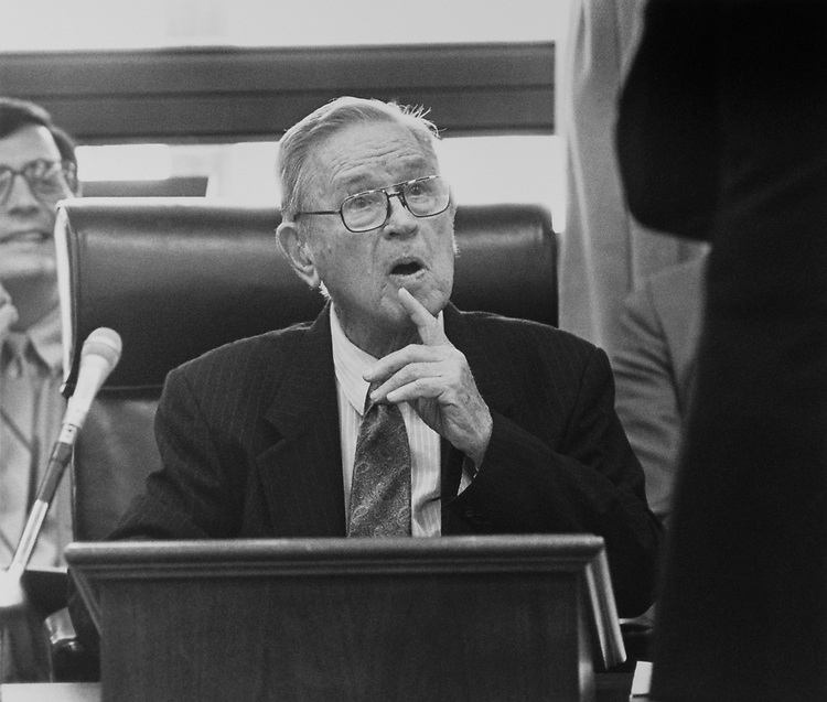 Rep. Jamie L. Whitten, D-Miss., at Full Committee Appropriations Hearing on June 22, 1992. (Photo by Laura Patterson/CQ Roll Call)