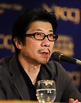 """September 19, 2017, Tokyo, Japan - Japanese film director Junji Sakamoto speaks forhisr latest movie """"Ernesto"""" at the Foreign Correspondents' Club of Japan in Tokyo on Tuesday, September 19, 2017. Japan-Cuba co-production movie will be screening on October 6.    (Photo by Yoshio Tsunoda/AFLO) LWX -ytd-"""
