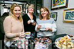 Enjoying the Meningitis research fundraiser Coffee Morning at Teach Beag Tralee on Thursday were Ann O'Donnell, Merjella Stack, Geraldine Hurley