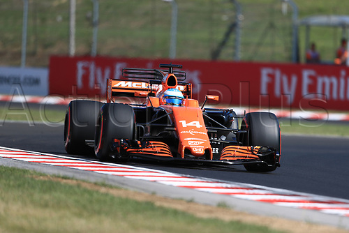 July 27th 2017, Hungaroring, Mogyoród, Hungary; Formula One Grand Prix of Hungary, free practise sessions; Fernando Alonso - McLaren Honda MCL32
