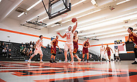 #32 Ryan Kaneshiro '20 grabs the ball.<br />