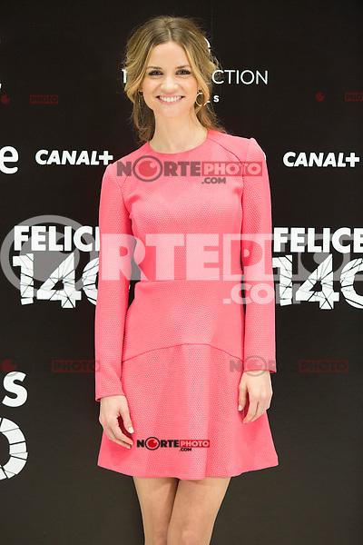 """Paula Cancio attend the Presentation of """"Happy 140"""" (Felices 140) Movie at Eurobuilding Hotel, Madrid,  Spain. April 07, 2015.(ALTERPHOTOS/)Carlos Dafonte) /NORTEphoto.com"""