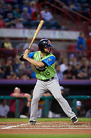 Las Ardillas Voladoras de Richmond Matt Winn (15) at bat during an Eastern League game against the Erie Piñatas on August 28, 2019 at UPMC Park in Erie, Pennsylvania.  Richmond defeated Erie 4-3 in the second game of a doubleheader.  (Mike Janes/Four Seam Images)