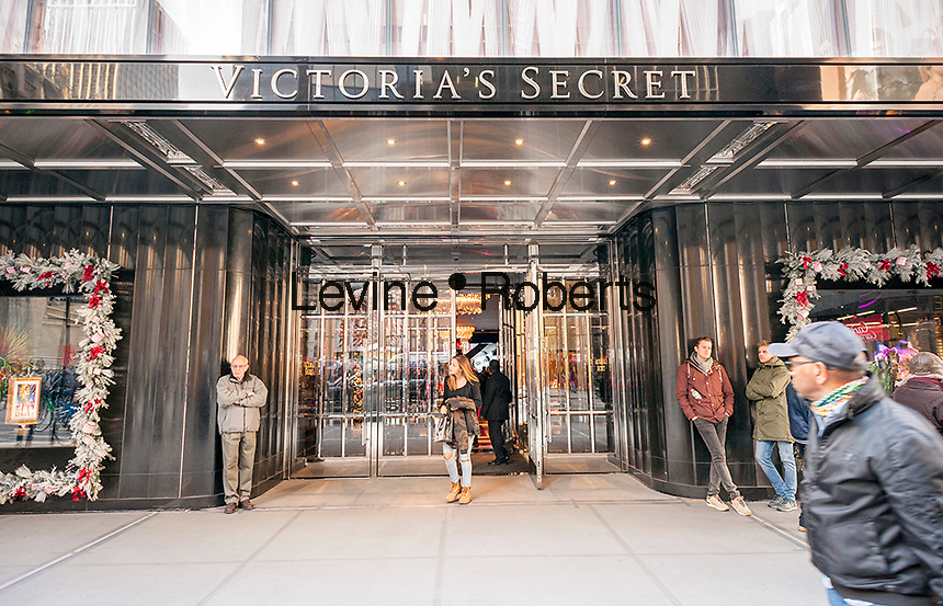 The new Victoria's Secret store on busy Fifth Avenue in Midtown in New York on Thursday, November 10, 2016. Victoria's Secret is a brand of L Brands. (©Richard B. Levine)