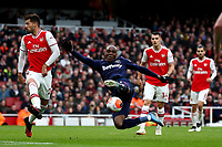 7th March 2020; Emirates Stadium, London, England; English Premier League Football, Arsenal versus West Ham United; Angelo Ogbonna of West Ham United miss times a scissor kick in front of the Arsenal goal