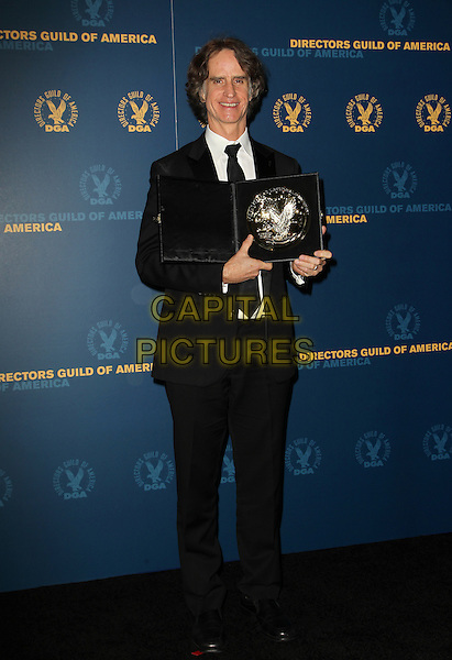 Jay Roach.65th Annual Directors Guild Of America Awards - Press Room Held At The Ray Dolby Ballroom at Hollywood & Highland Center, Hollywood, California, USA..February 2nd, 2013.full length award trophy winner black  suit .CAP/ADM/KB.©Kevan Brooks/AdMedia/Capital Pictures.