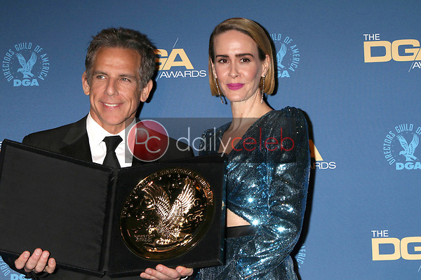 Ben Stiller, Sarah Paulson<br /> at the 71st Annual Directors Guild Of America Awards Press Room, Dolby Ballroom, Hollywood, CA 02-02-19<br /> David Edwards/DailyCeleb.com 818-249-4998
