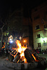 Bonfire of Saint Anthony's night at the main square in front of the town hall of Sóller<br /> <br /> Fuego de San Antonio Abad (cat.: Sant Antoni Abat) en la Plaza de la Constitución delante del Ayuntamiento de Sóller<br /> <br /> Sankt Antonius Feuer auf dem Hauptplatz von Soller vor dem Rathaus <br /> <br /> 3008 x 2000 px<br /> 150 dpi: 50,94 x 33,87 cm<br /> 300 dpi: 25,47 x 16,93 cm