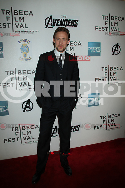 April 28, 2012 Tom Hiddleston attends the Closing  Night of the 2012 Tribeca Film Festival with Marvel' the Avengers at BMCC Tribeca Pac in New York City..Credit:RWMediapunchinc.com