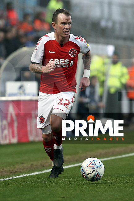 Glenn Whelan of Fleetwood Town during the Sky Bet League 1 match between Bristol Rovers and Fleetwood Town at the Memorial Stadium, Bristol, England on 25 January 2020. Photo by Dave Peters / PRiME Media Images.