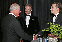 04 April 2019 - London, England - Prince Charles Prince of Wales with David Beckham and Brooklyn Beckham at Our Planet Global Premiere held at the Natural History Museum in London. Photo Credit: ALPR/AdMedia